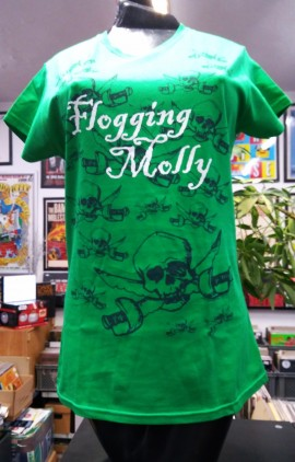 FLOGGING MOLLY Multi Skull T-SHIRT