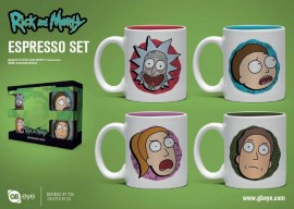 RICK AND MORTY Espresso Mugs 4-Pack Characters ŠALICE