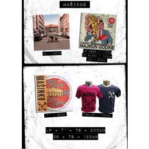 MAŠINKO CD + t-shirt Bundle/Paket