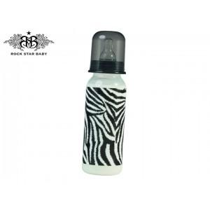 ROCK STAR BABY Plastična bočica 250ml - Zebra