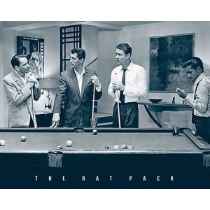 RAT PACK Playing Pool POSTER