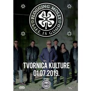 FLOGGING MOLLY - Koncert, Zagreb, 2019. POSTER