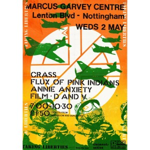 CRASS Gig Poster Nottingham 1984 PUZZLE