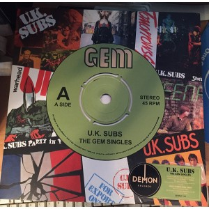 UK SUBS - Gem Singles LP