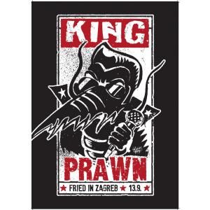 KING PRAWN Fried In Zagreb POSTER