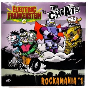 ELECTRIC FRANKENSTEIN / THE CHEATS ‎– Rockamania #1 LP