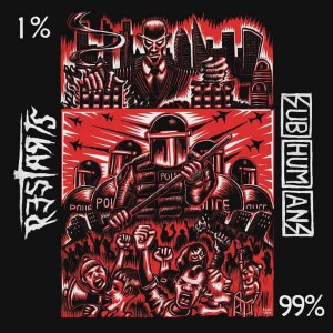 """SUBHUMANS / RESTARTS - 99% / 1% 7"""""""